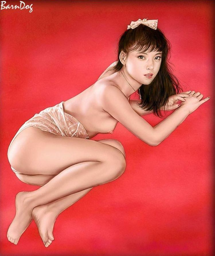 Sensual Asian girls in erotic drawings of Barn Dog - 19