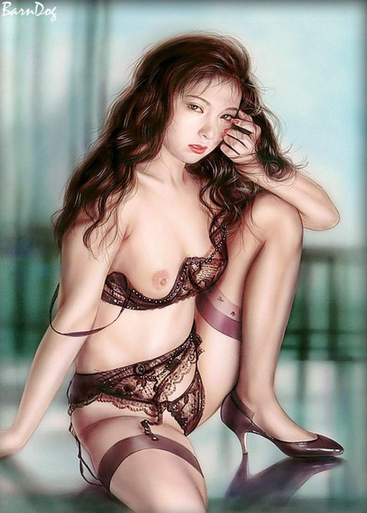 Sensual Asian girls in erotic drawings of Barn Dog - 20