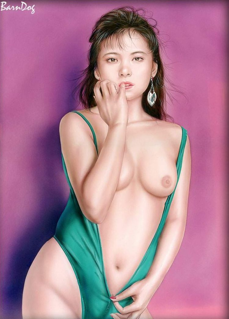 Sensual Asian girls in erotic drawings of Barn Dog - 24