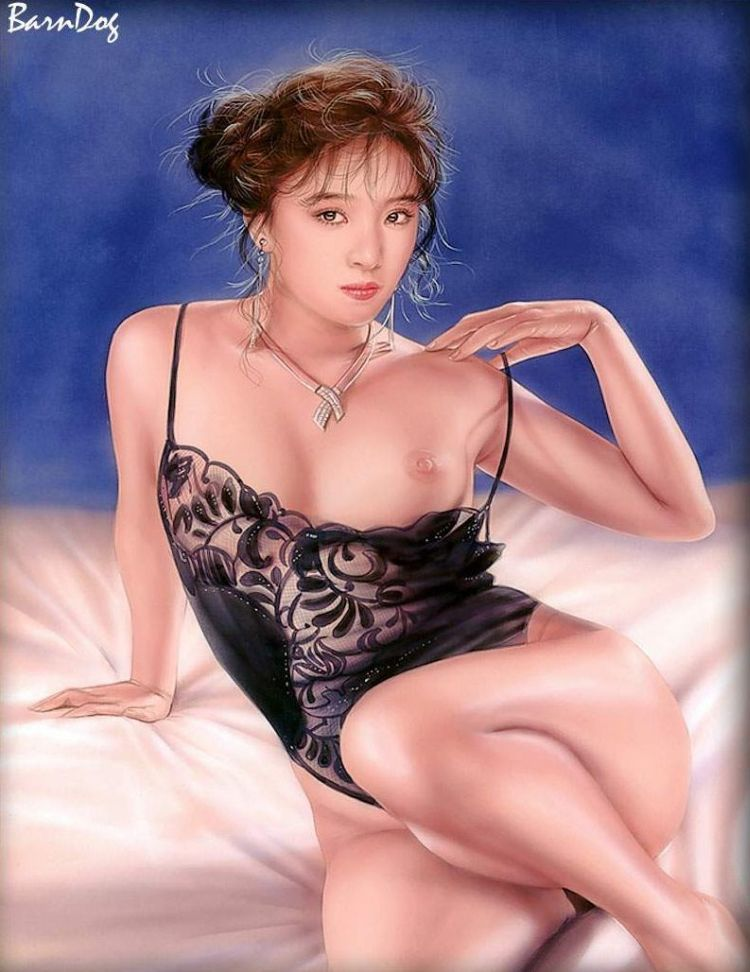 Sensual Asian girls in erotic drawings of Barn Dog - 25