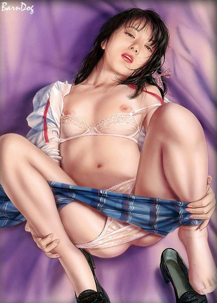 Sensual Asian girls in erotic drawings of Barn Dog - 28
