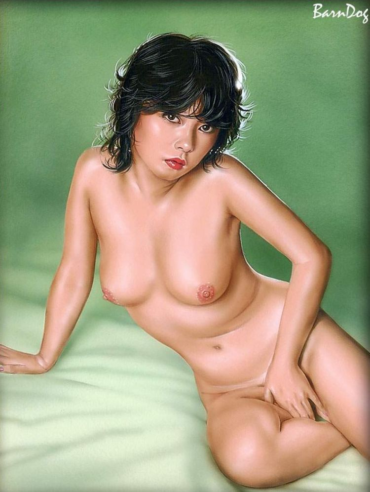 Sensual Asian girls in erotic drawings of Barn Dog - 30