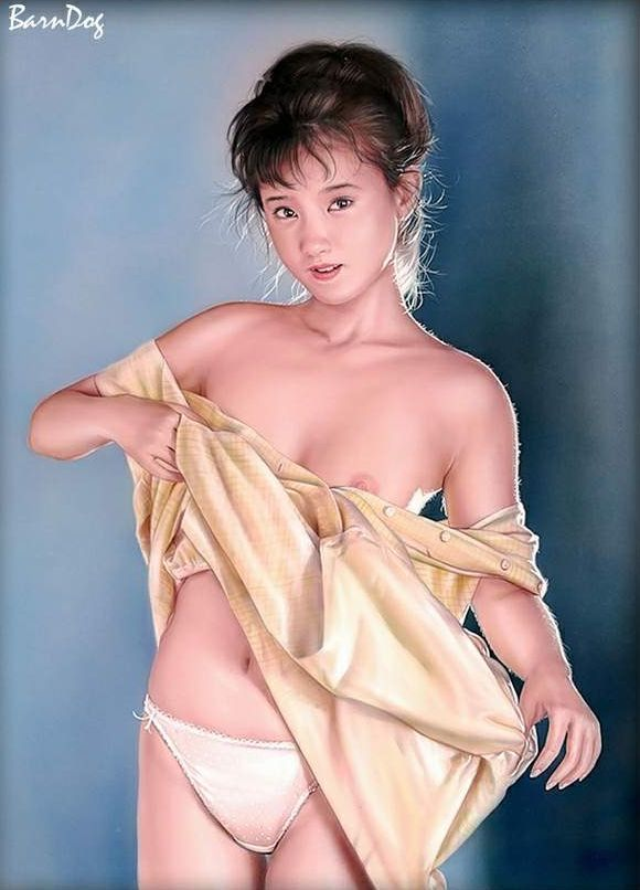 Sensual Asian girls in erotic drawings of Barn Dog - 33