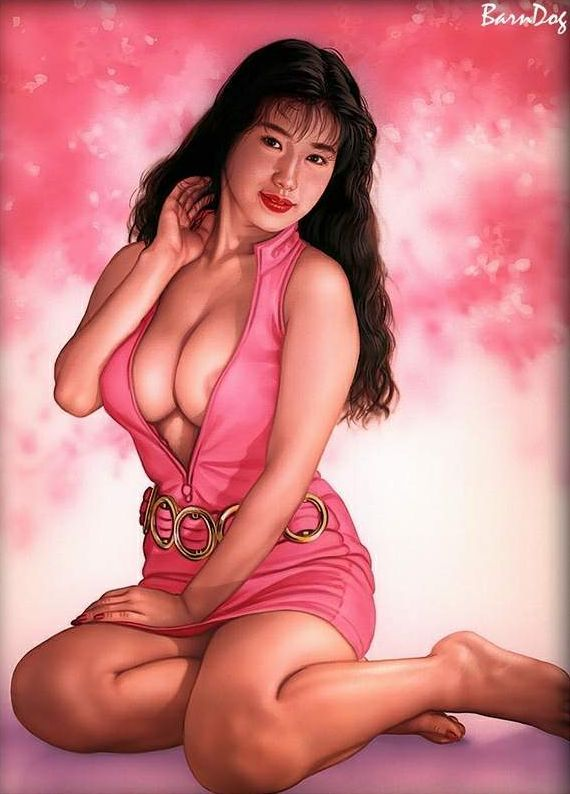 Sensual Asian girls in erotic drawings of Barn Dog - 48
