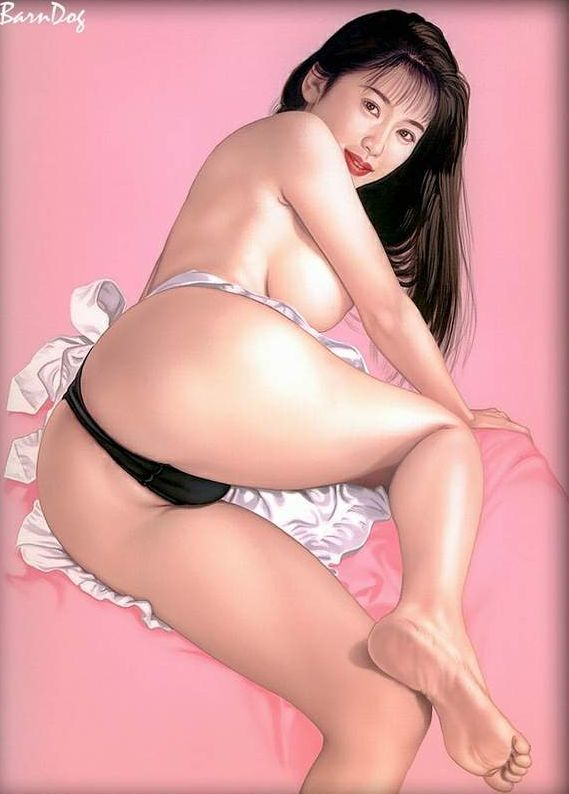 Sensual Asian girls in erotic drawings of Barn Dog - 49