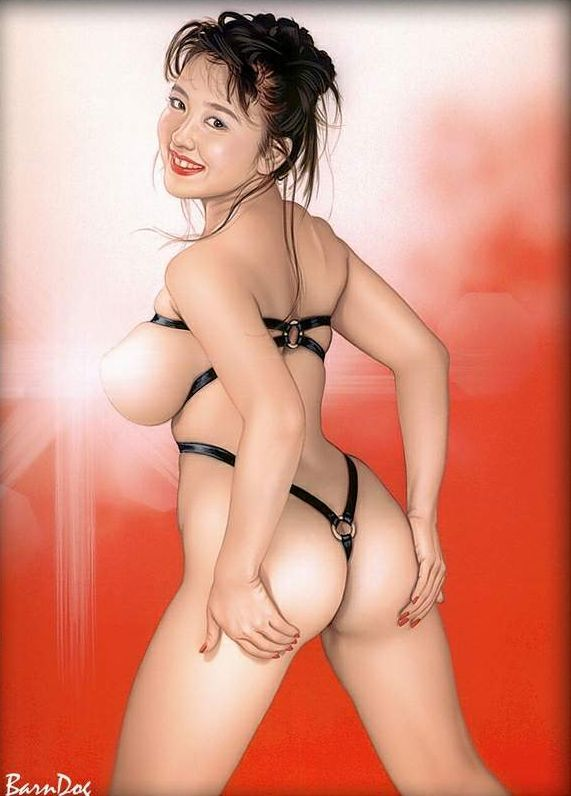 Sensual Asian girls in erotic drawings of Barn Dog - 50