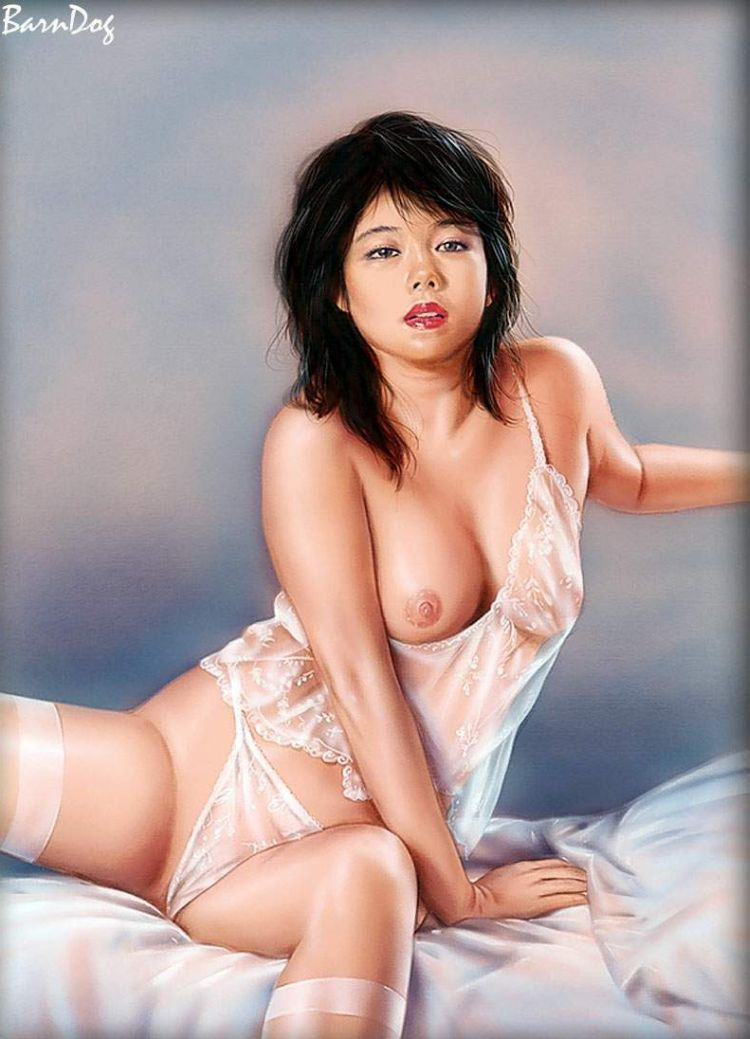 Sensual Asian girls in erotic drawings of Barn Dog - 54