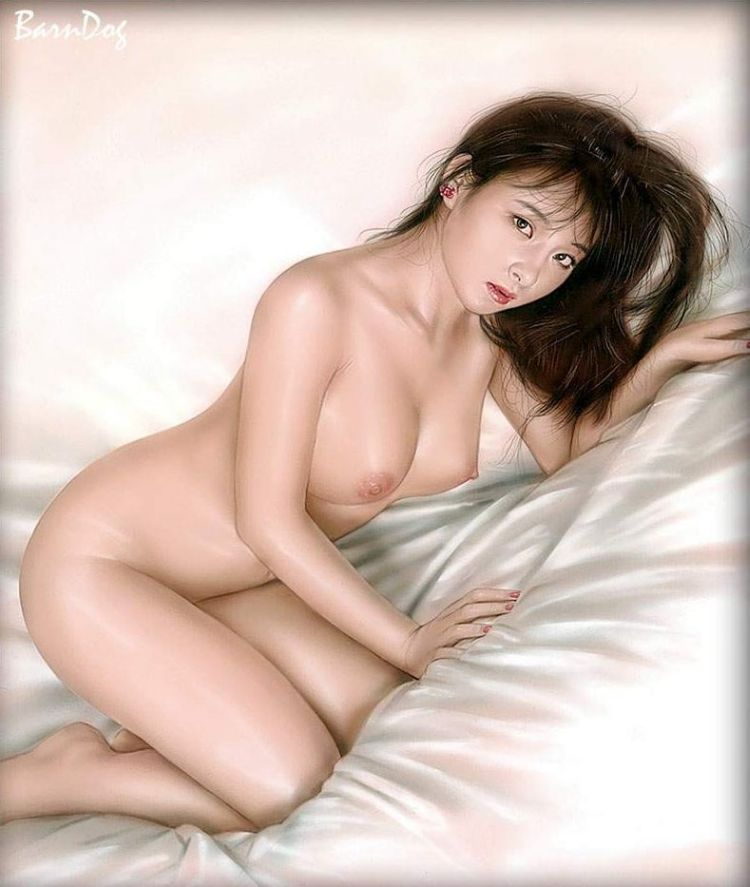 Sensual Asian girls in erotic drawings of Barn Dog - 55