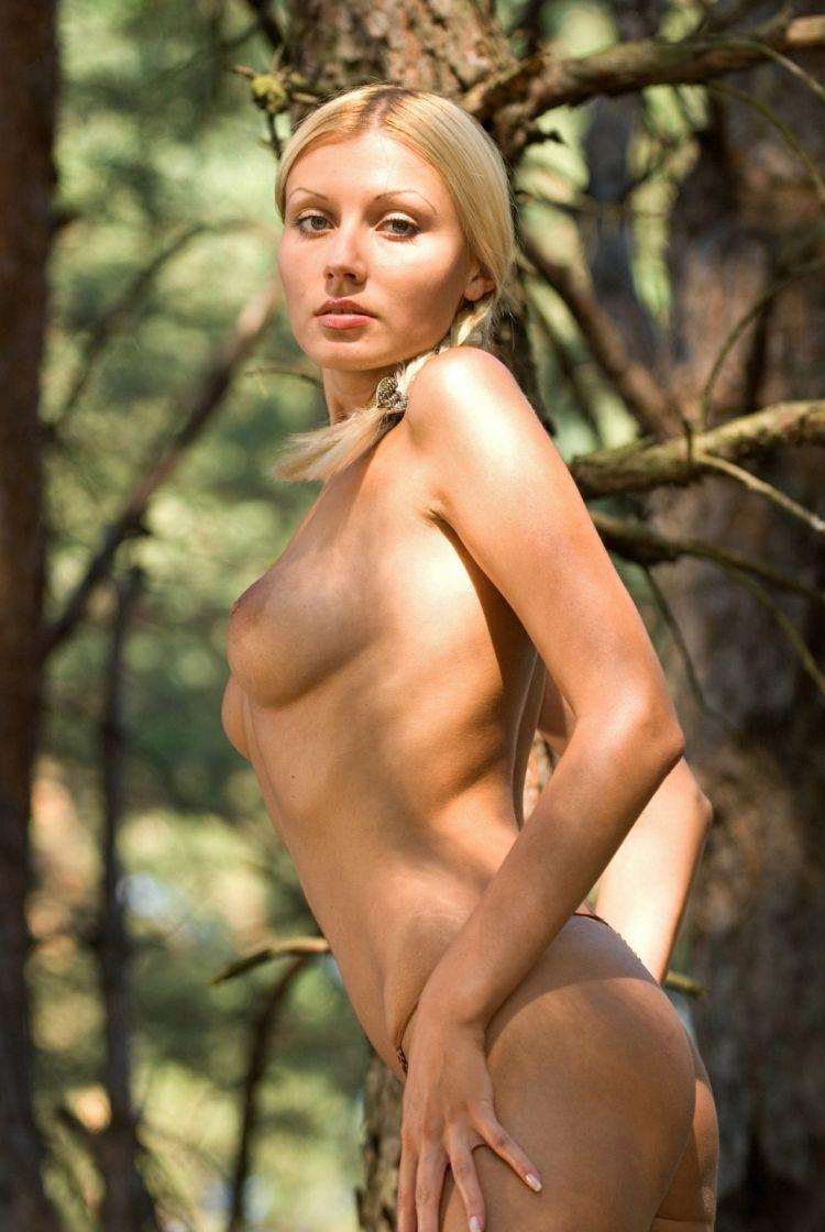 Blond wood nymph Amina - 01