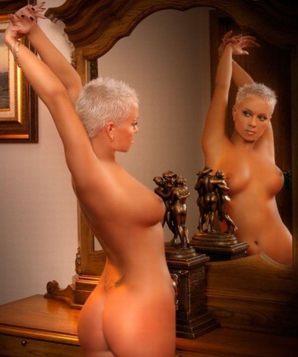 Порно фото девушек с короткими прическами
