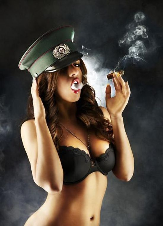 Babes with cigars, a fascinating show. Enjoy ;) - 02