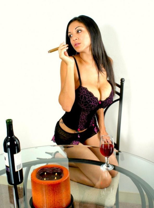 Babes with cigars, a fascinating show. Enjoy ;) - 12