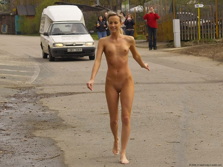 Walking naked in public girls