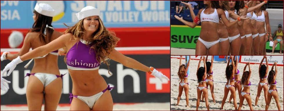 These sexy cheerleaders of beach volleyball. Part 2 - 9