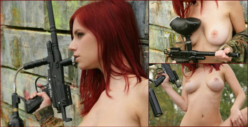 Sexy paintball with beauty Ariel - 4