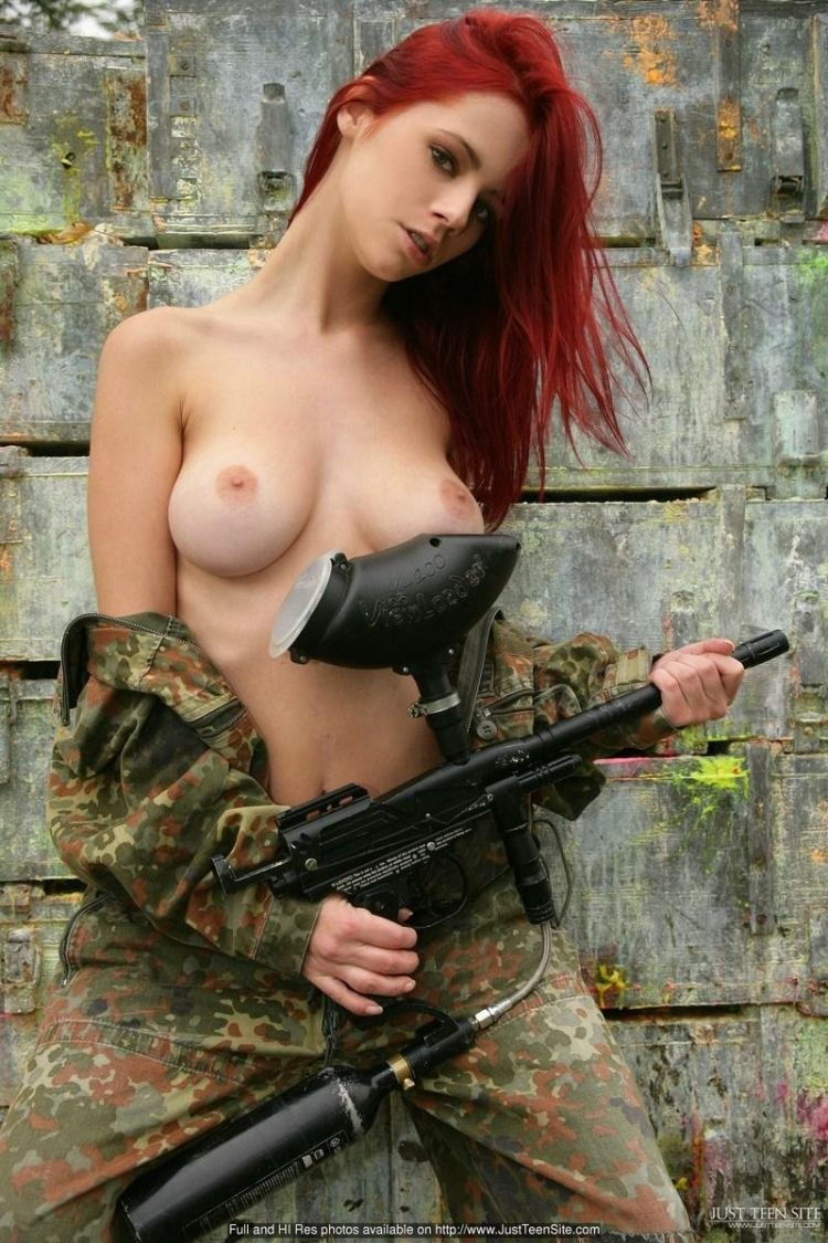 Sexy paintball with beauty Ariel - 01