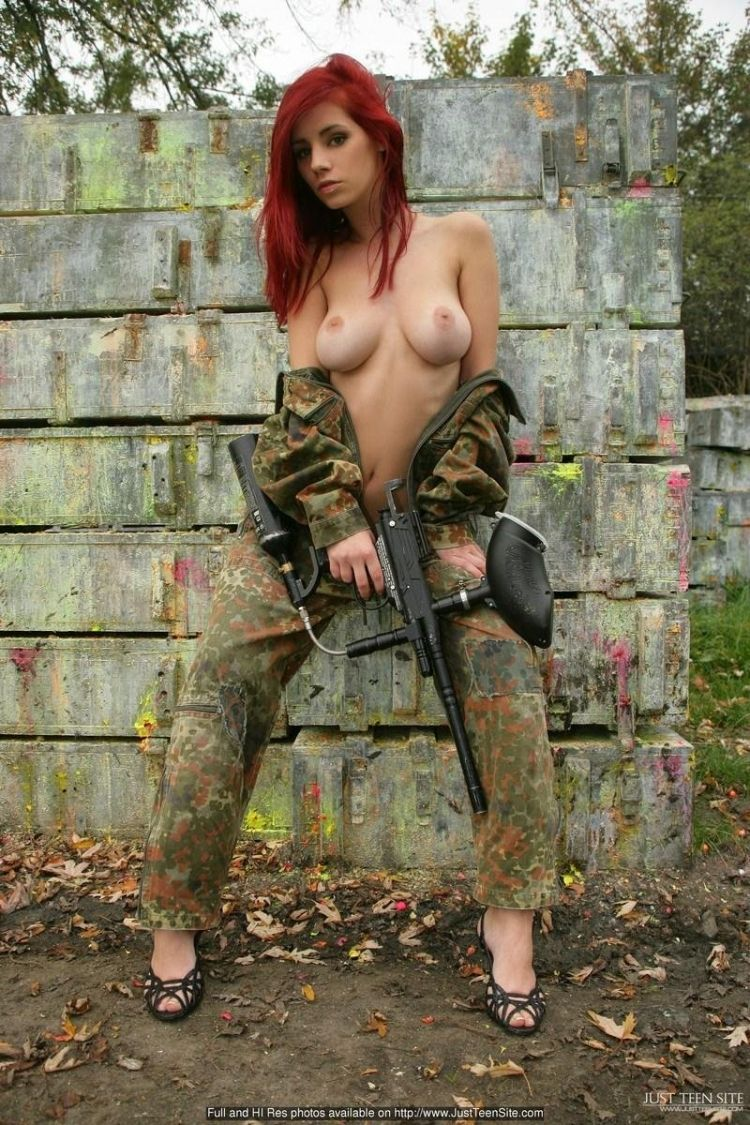 Sexy paintball with beauty Ariel - 04