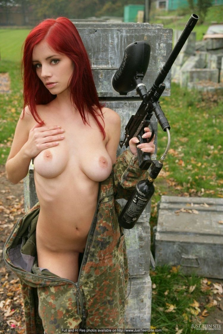 Sexy paintball with beauty Ariel - 05