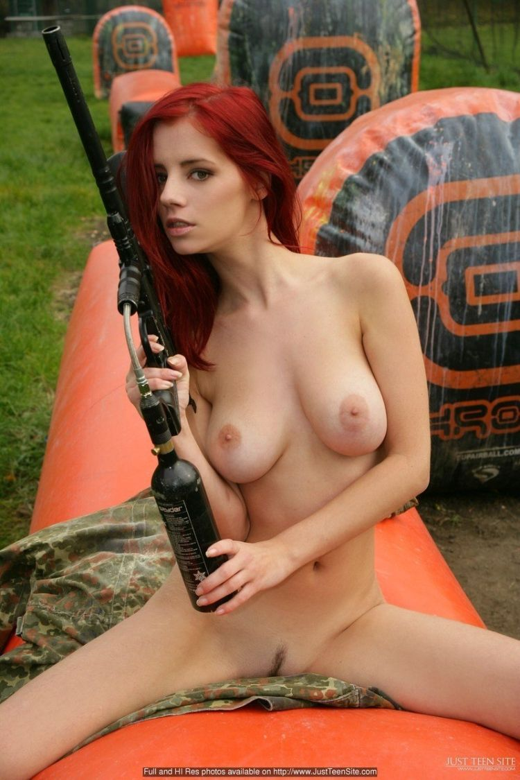 Sexy paintball with beauty Ariel - 09