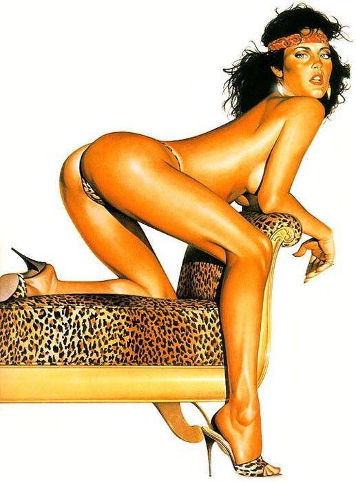 Erotic drawings by Japanese artist Hajime Sorayama - 01