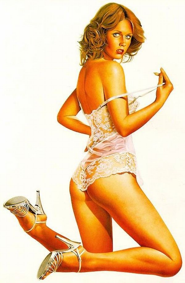 Erotic drawings by Japanese artist Hajime Sorayama - 02