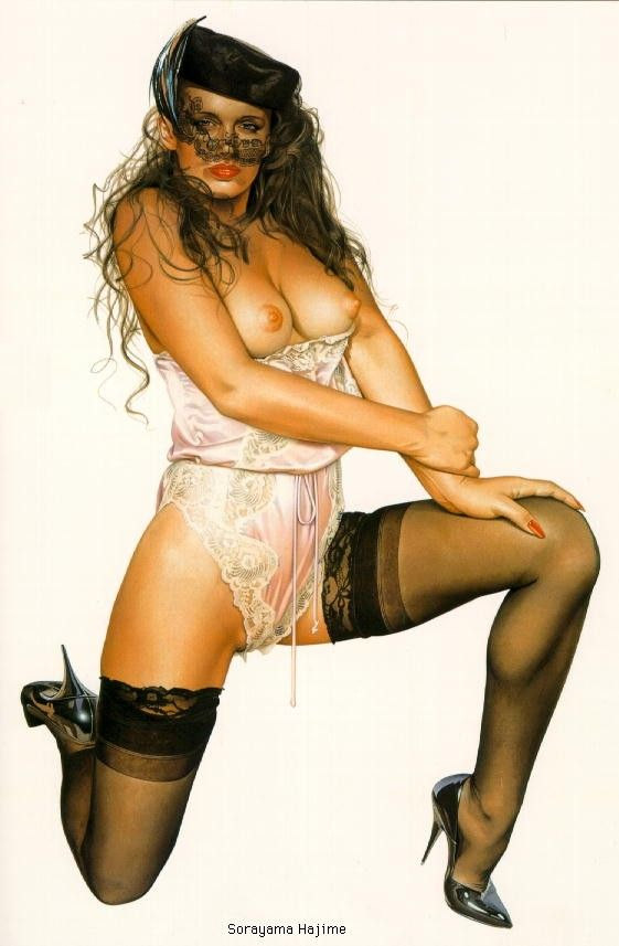 Erotic drawings by Japanese artist Hajime Sorayama - 03