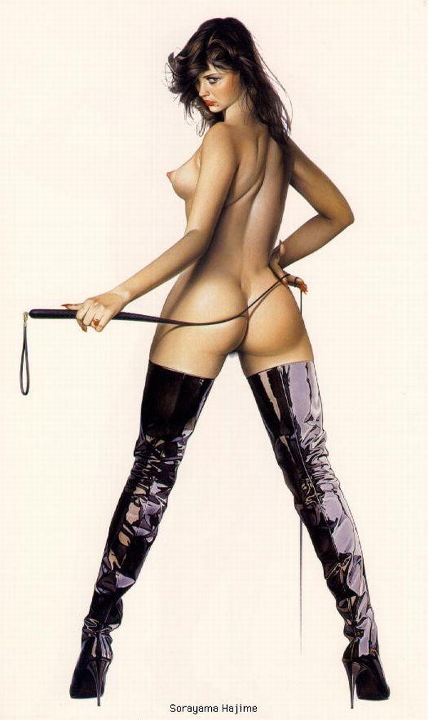 Erotic drawings by Japanese artist Hajime Sorayama - 04