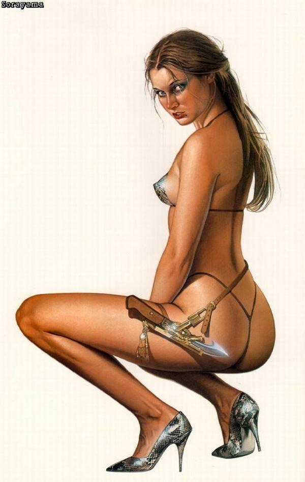 Erotic drawings by Japanese artist Hajime Sorayama - 07