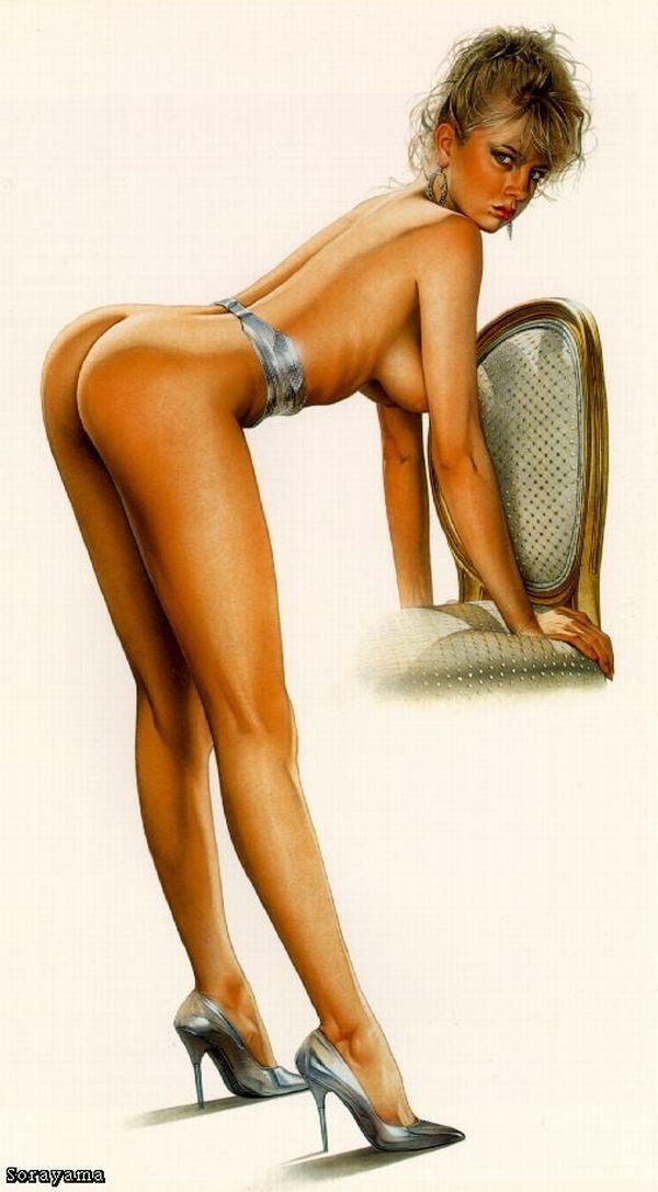 Erotic drawings by Japanese artist Hajime Sorayama - 11