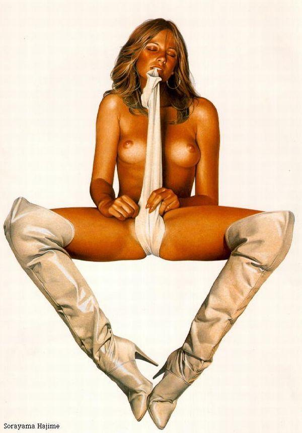 Erotic drawings by Japanese artist Hajime Sorayama - 13