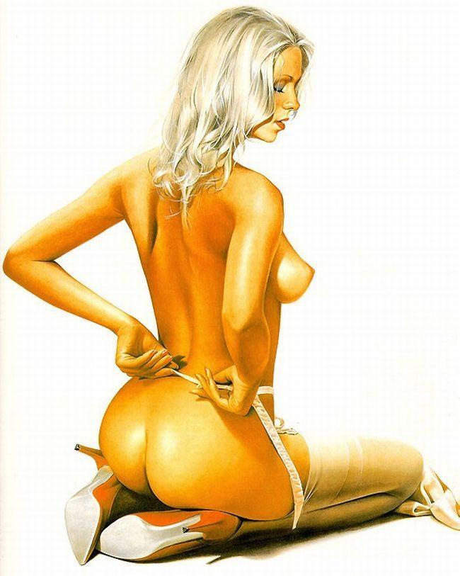 Erotic drawings by Japanese artist Hajime Sorayama - 15