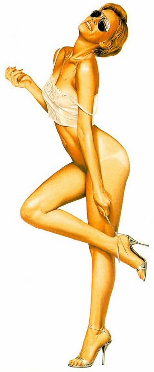 Erotic drawings by Japanese artist Hajime Sorayama - 16