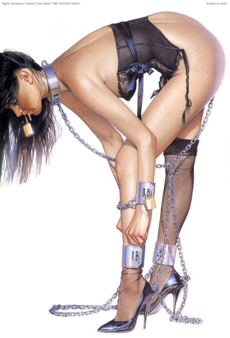 Erotic drawings by Japanese artist Hajime Sorayama - 21
