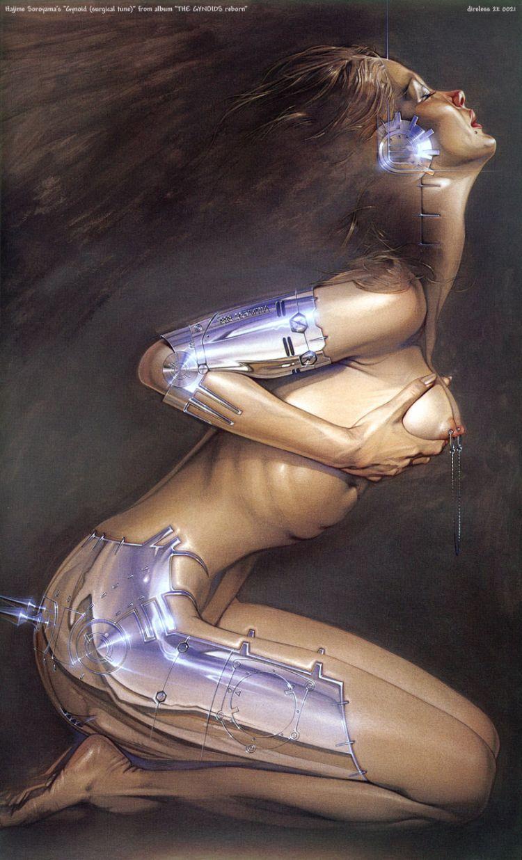 Erotic drawings by Japanese artist Hajime Sorayama - 22