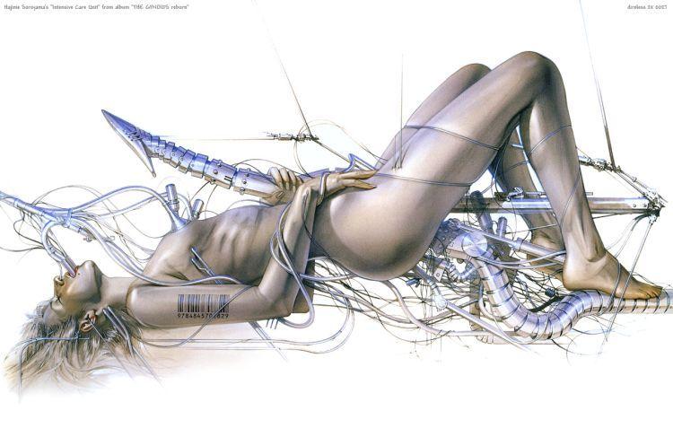 Erotic drawings by Japanese artist Hajime Sorayama - 24