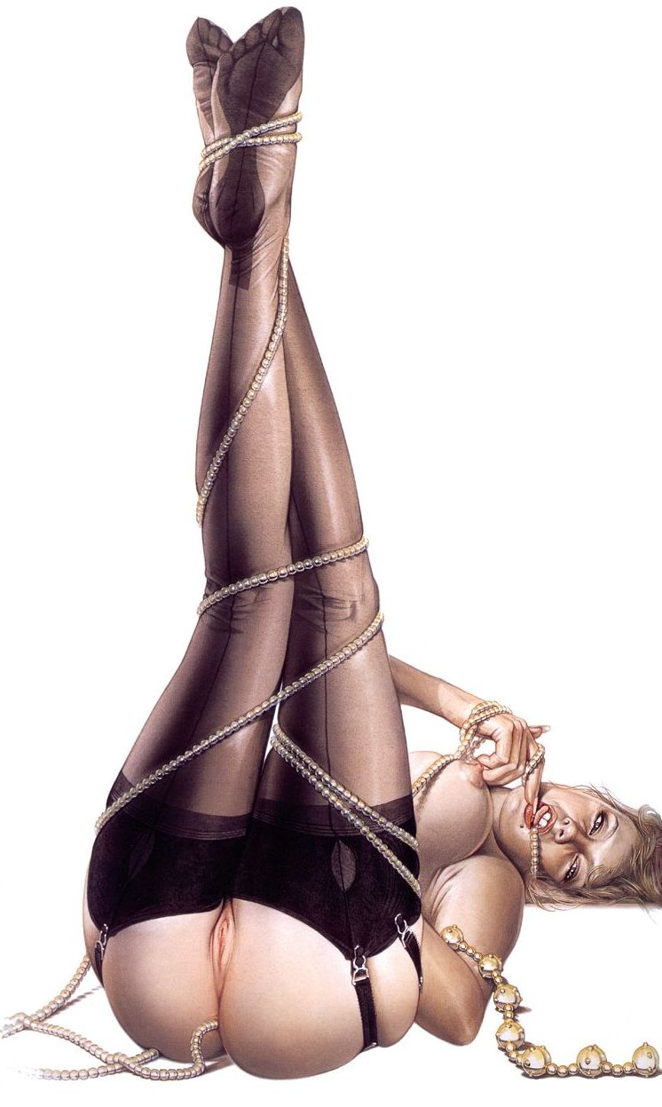 Erotic drawings by Japanese artist Hajime Sorayama - 25