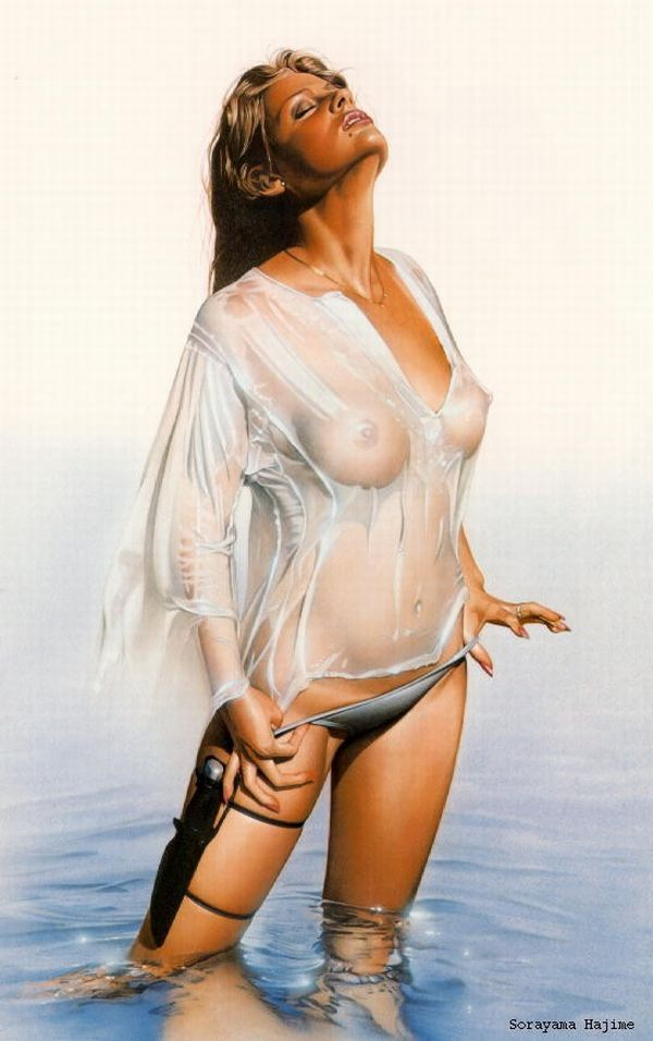 Erotic drawings by Japanese artist Hajime Sorayama - 31