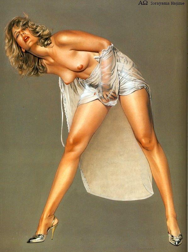 Erotic drawings by Japanese artist Hajime Sorayama - 33