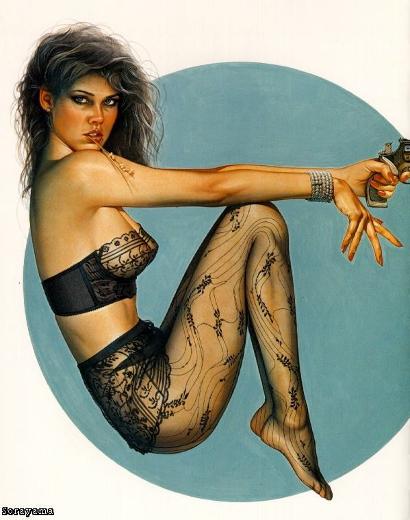 Erotic drawings by Japanese artist Hajime Sorayama - 35