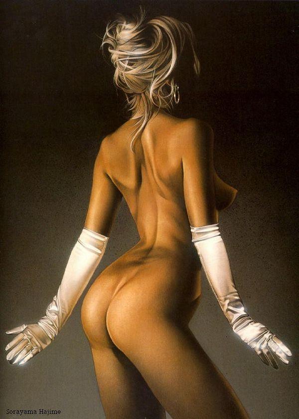 Erotic drawings by Japanese artist Hajime Sorayama - 37