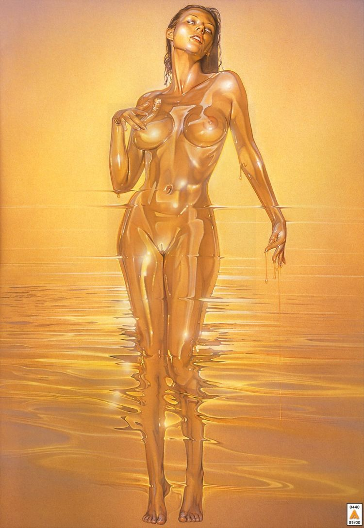 Erotic drawings by Japanese artist Hajime Sorayama - 38