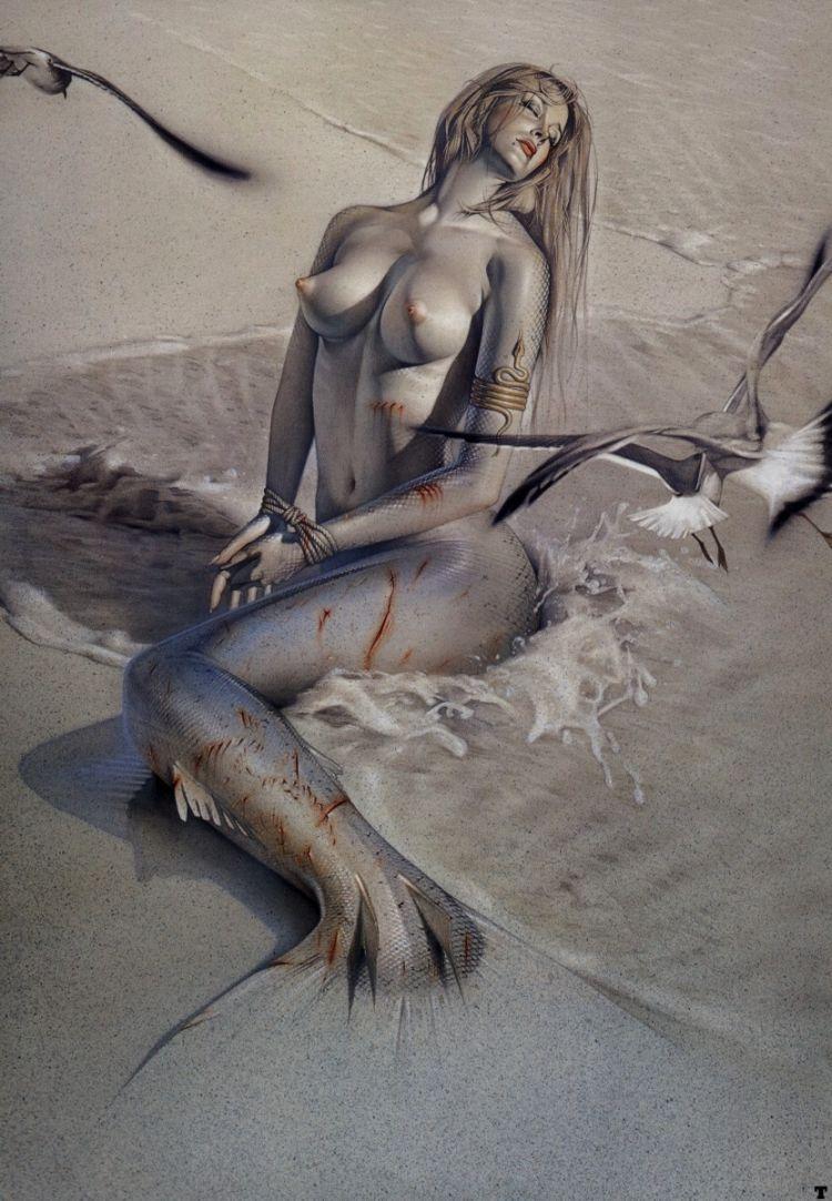 Erotic drawings by Japanese artist Hajime Sorayama - 41