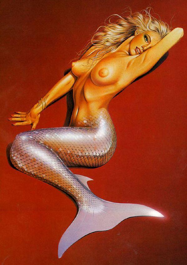 Erotic drawings by Japanese artist Hajime Sorayama - 45