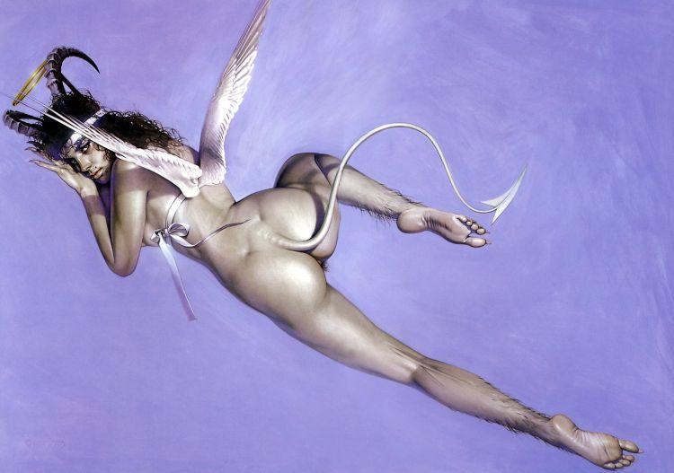 Erotic drawings by Japanese artist Hajime Sorayama - 47