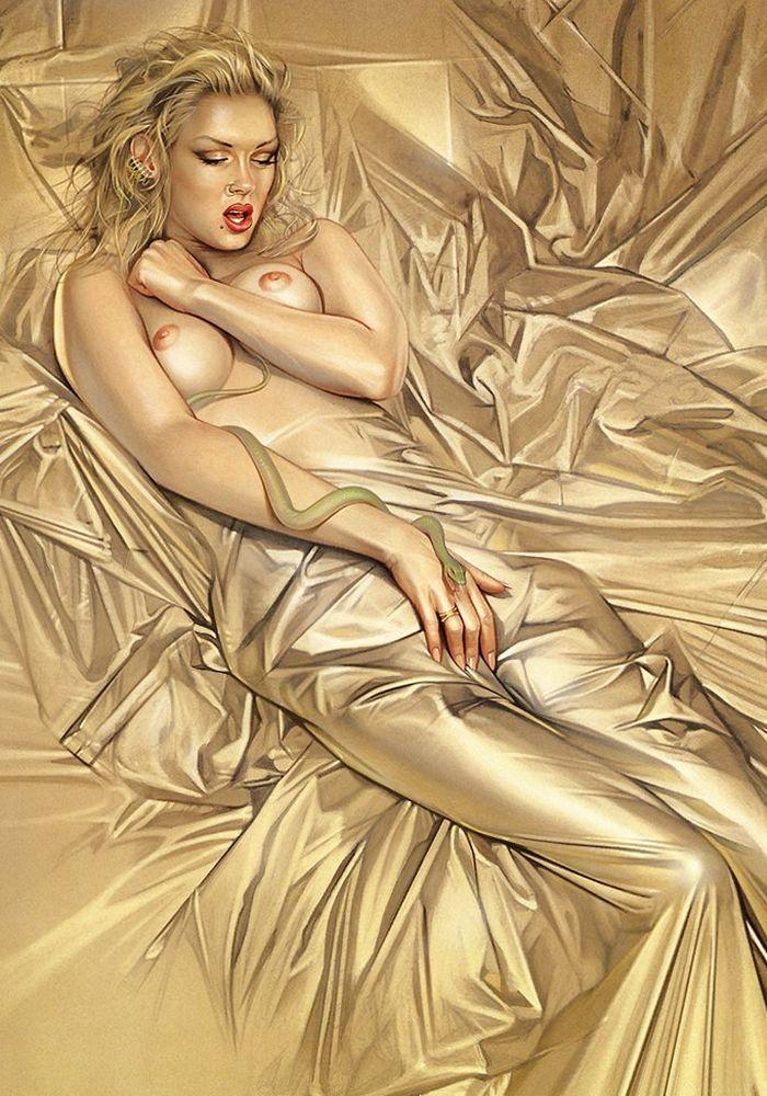 Erotic drawings by Japanese artist Hajime Sorayama - 48