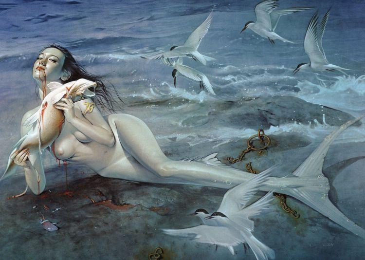 Erotic drawings by Japanese artist Hajime Sorayama - 50