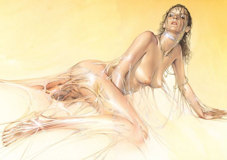 Erotic drawings by Japanese artist Hajime Sorayama - 51