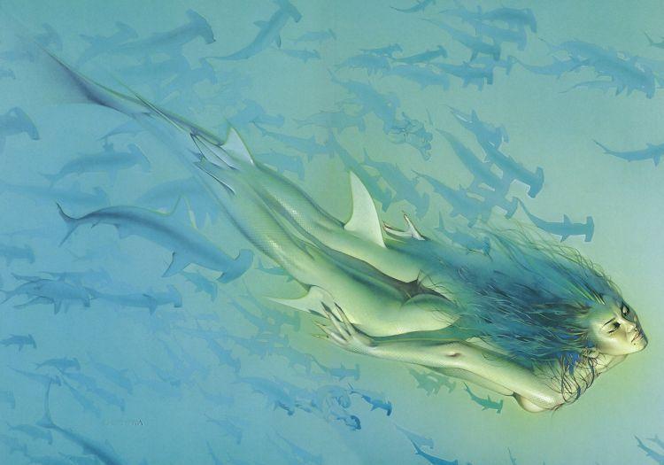Erotic drawings by Japanese artist Hajime Sorayama - 52