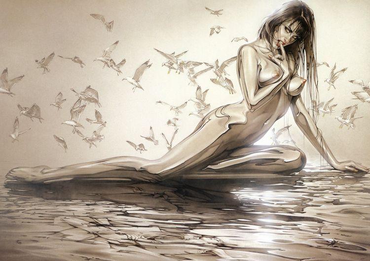 Erotic drawings by Japanese artist Hajime Sorayama - 53