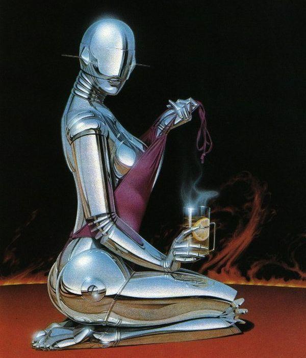 Erotic drawings by Japanese artist Hajime Sorayama - 55